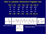 how to calculate theoretical fragment ions