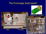 the prototype instrument
