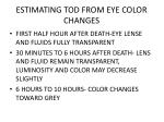 estimating tod from eye color changes