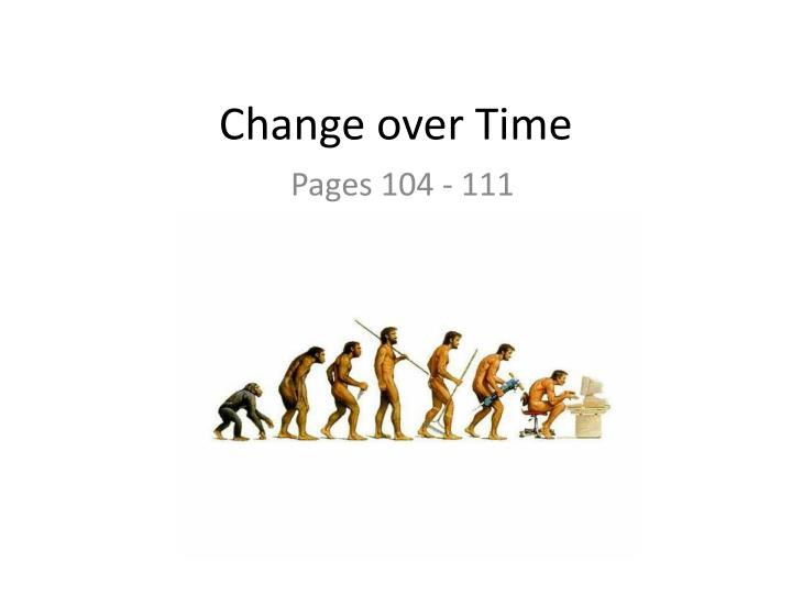 change over time n.