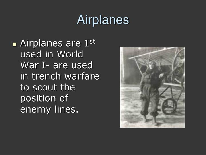 Airplanes are 1