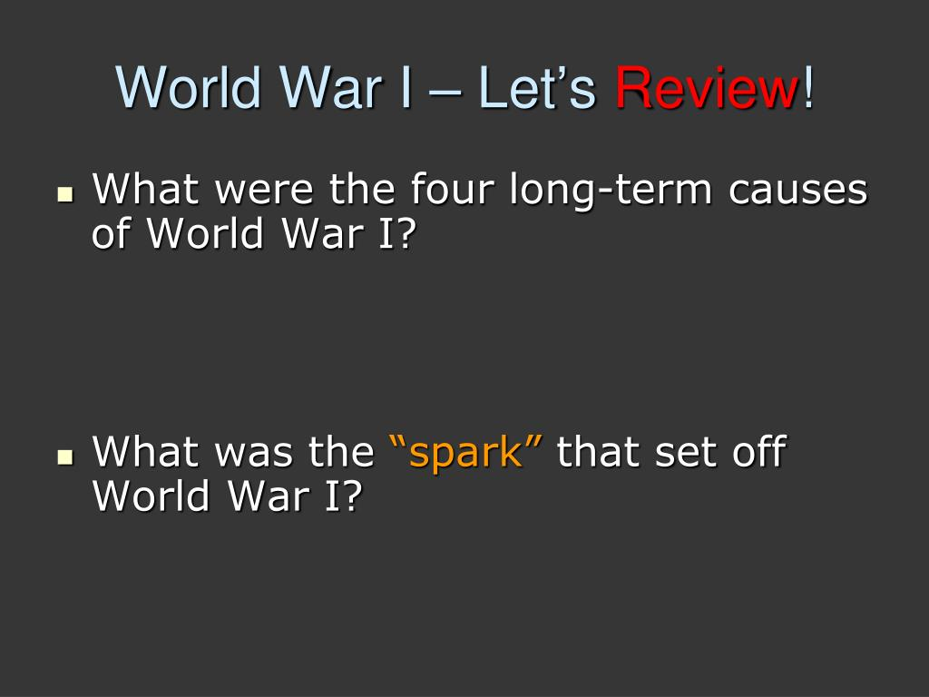 PPT - Conditions of World War I PowerPoint Presentation - ID