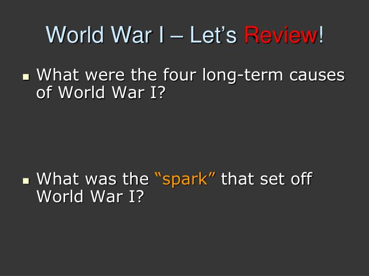 World war i let s review