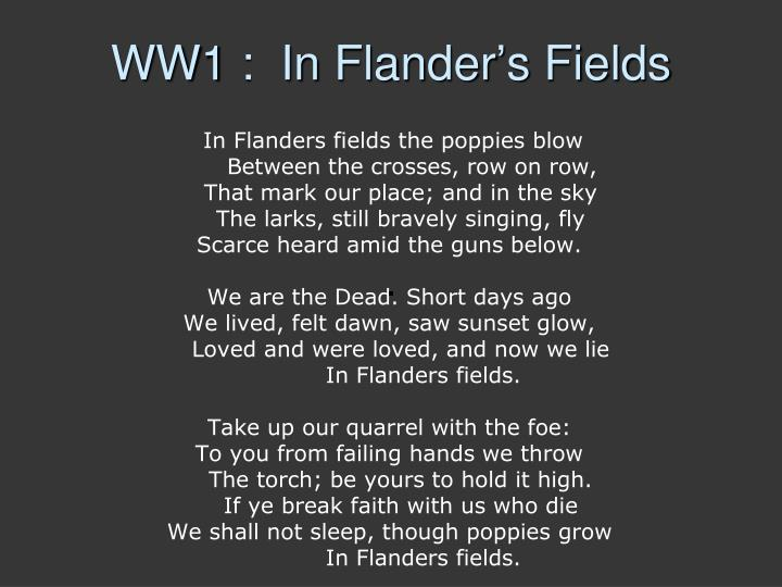 WW1 :  In