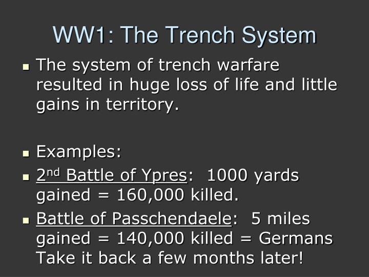 WW1: The Trench System