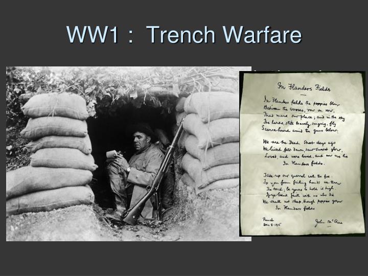 WW1 :  Trench