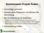 gemeinsames projekt finden