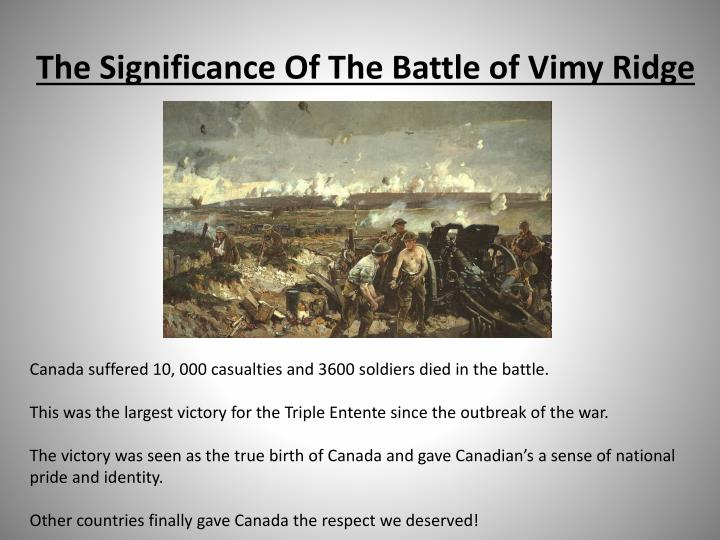 vimy ridge canadian significance