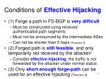 conditions of effective hijacking
