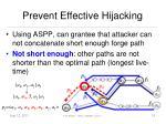 prevent effective hijacking