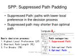 spp suppressed path padding