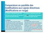 comparaison en parall le des modifications aux lignes directrices modifications en rouge2