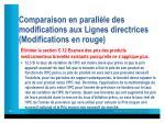 comparaison en parall le des modifications aux lignes directrices modifications en rouge3