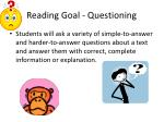 reading goal questioning