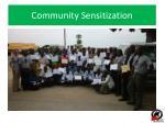 community sensitization