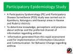 participatory epidemiology study