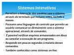 sistemas interativos