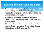 sistemas interativos time sharing