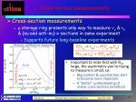 n cross section measurements