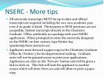 nserc more tips2
