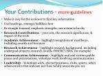 your contributions more guidelines
