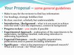 your proposal some general guidelines