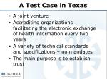a test case in texas