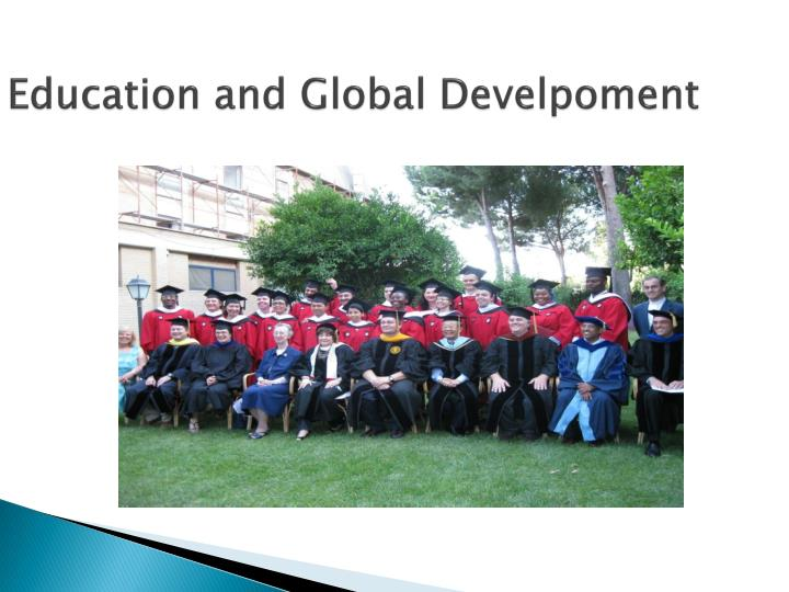 education and global develpoment n.