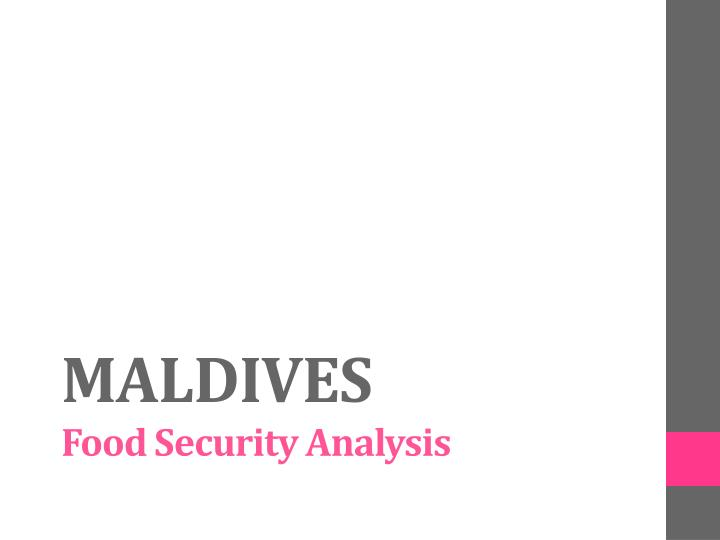 maldives food security analysis n.