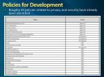 policies for development