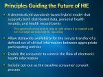 principles guiding the future of hie