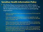sensitive health information policy