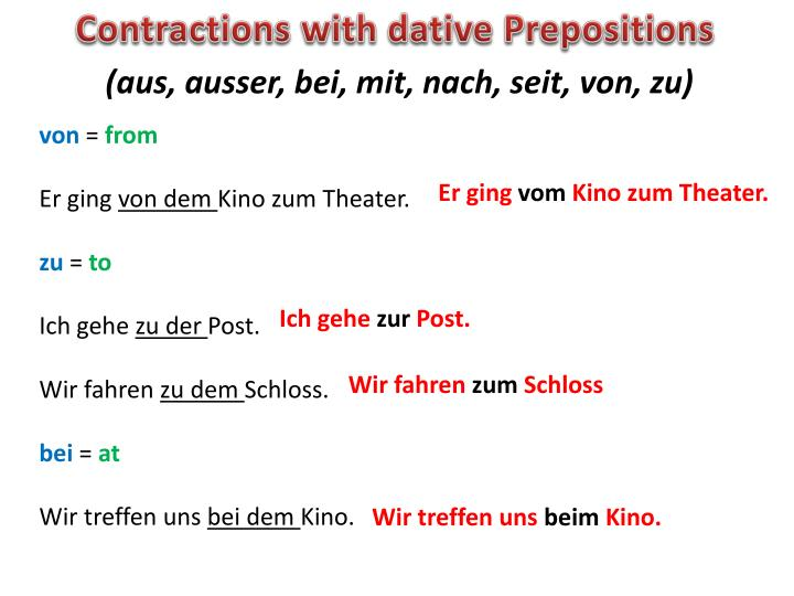Contractions with