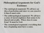 philosophical arguments for god s existence2