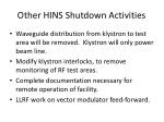 other hins shutdown activities