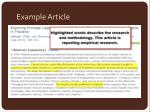 example article