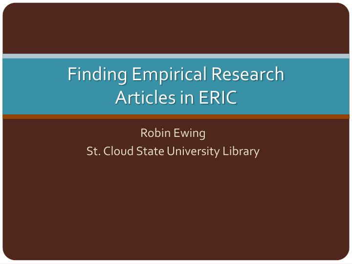 finding research articles This video explains what primary research articles are and demonstrates how to find them using the cu library and the med library guide.