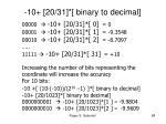10 20 31 binary to decimal