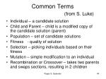 common terms from s luke