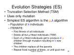 evolution strategies es