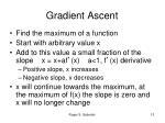gradient ascent