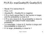 p t r s exp quality r quality s t