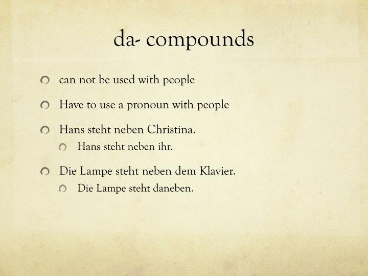 da- compounds