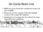 six cavity beam line