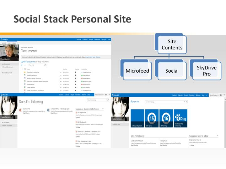 Social Stack Personal Site