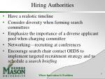 hiring authorities
