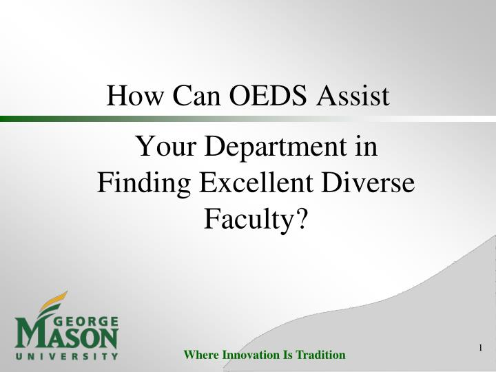 how can oeds assist n.