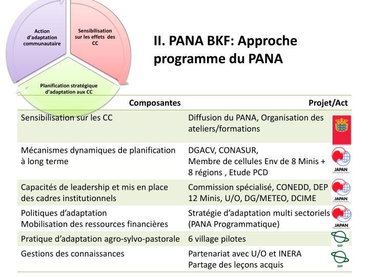 II. PANA BKF: