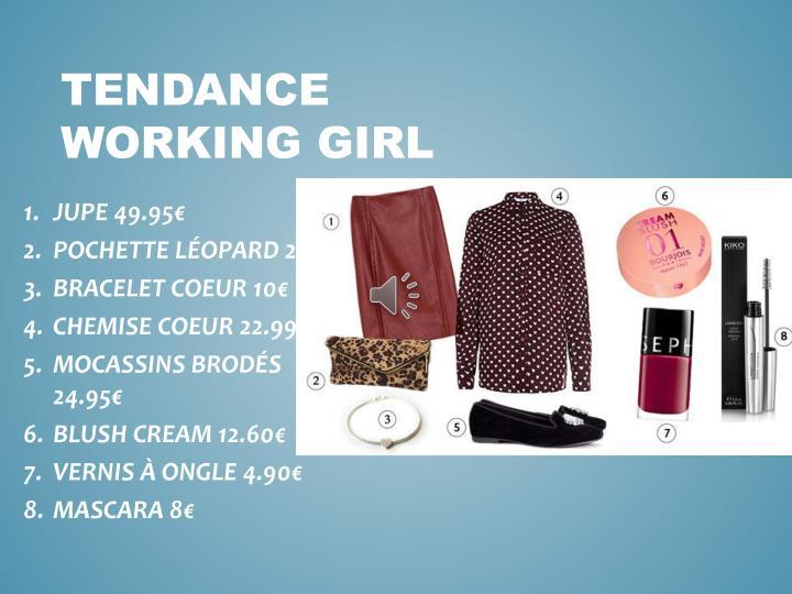 TENDANCE WORKING GIRL