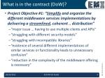 what is in the contract dow